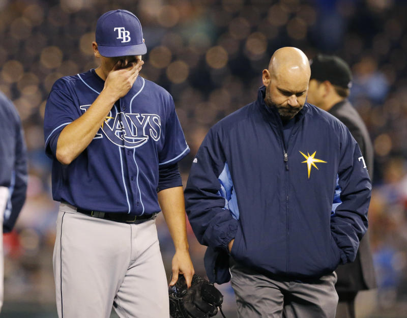 Elbow ligament on Rays' Moore 'not fully torn'