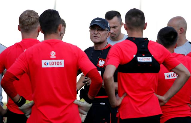 Soccer Football - World Cup - Poland Training - Poland Training Camp, Sochi, Russia - June 21, 2018 Poland coach Adam Nawalka during training REUTERS/Francois Lenoir