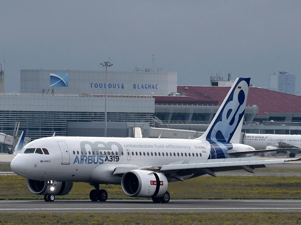 An Airbus A319neo.