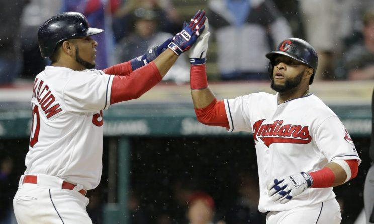 A seven-run deficit couldn't stop the Indians on Monday. (AP Photo)