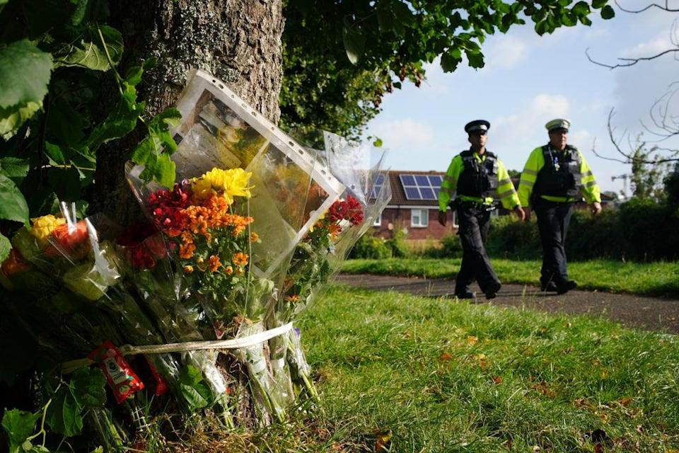 Floral tributes left in Keyham (PA) (PA Wire)