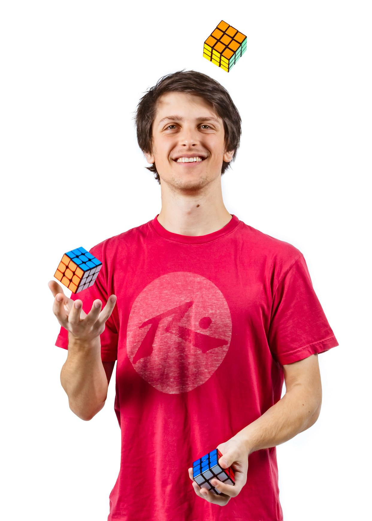 Feliks Zemdegsholds numerous world records involvingthe Rubik's Cube. The student from Melbourne, Australia, can solve the cube in just 4.73 seconds.