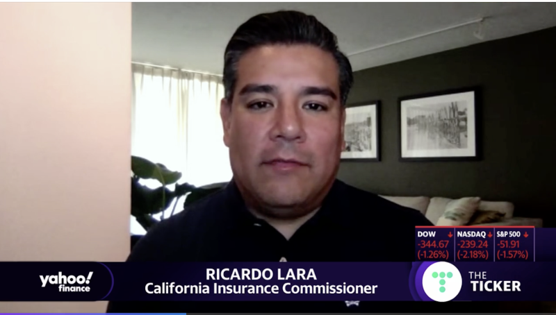 Ricardo Lara speaks to Yahoo FInance.