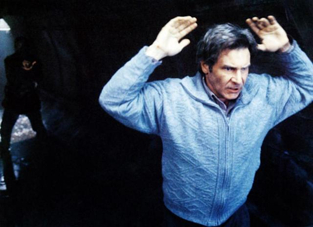 The falsely accused Harrison Ford is relentlessly chased by Tommy Lee Jones in 1993's <em>The Fugitive</em>. (Photo: Warner Bros. Pictures, courtesy of Everett Collection)