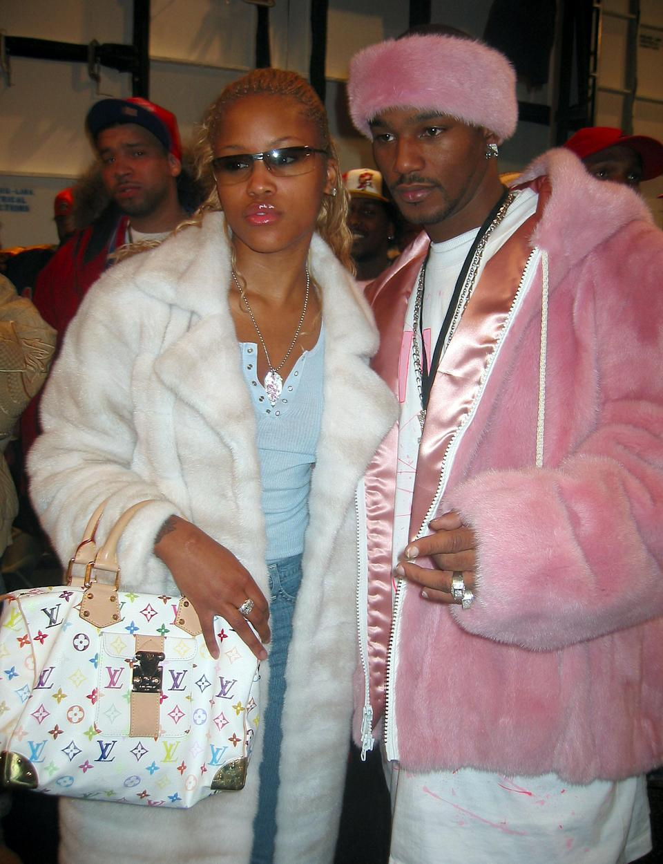 Eve and Cam'ron front row at Baby Phat in New York, February 13, 2003.