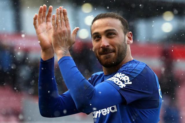 The Everton fans are falling in love with Cenk Tosun