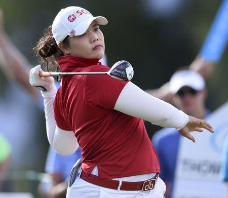 FILE PHOTO: Apr 3, 2016; Rancho Mirage, CA, USA; Ariya Jutanugarn tees off on the 13th hole during the final round of the ANA Inspiration tournament at Mission Hills CC - Dinah Shore Tournament Course. Kelvin Kuo-USA TODAY Sports -
