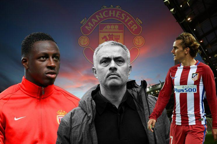 Manchester United boss Jose Mourinho is targeting Antoine Griezmann and Benjamin Mendy