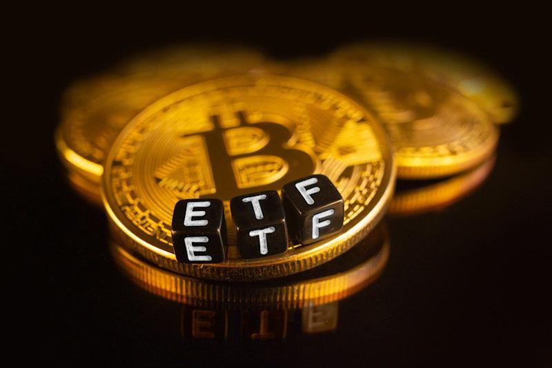 Without access to a bitcoin ETF, some crypto investors are paying a staggering 18 percent premium to purchase the cryptocurrency. | Source: Shutterstock