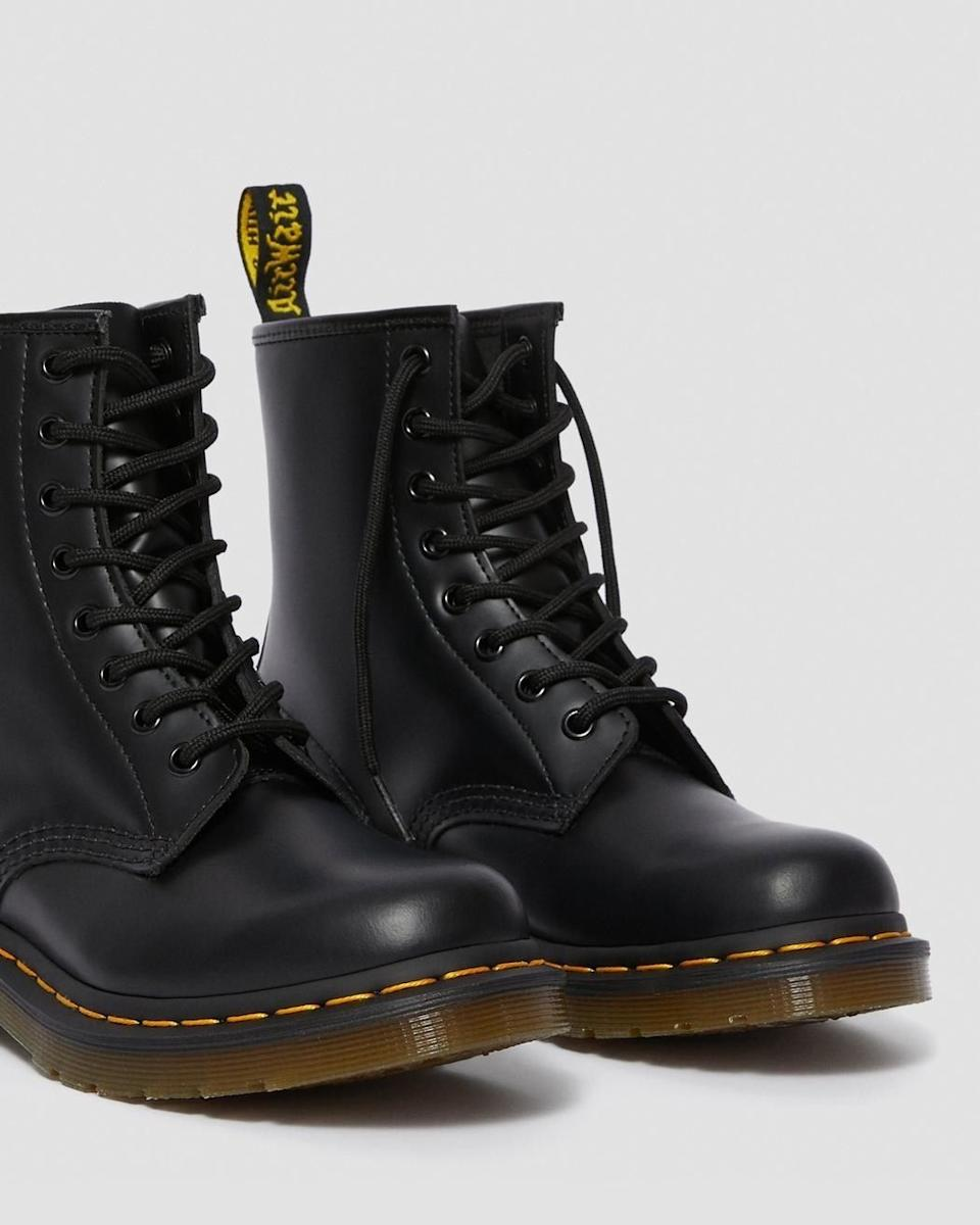 """You can wear these in the rain, sleet and even a little bit of snow without worrying about slipping and falling on your butt.<br /><br /><strong>Promising review:</strong>""""As a teen in the '90s, I've always wanted some. Why did I wait so long?<strong>These are the best boots I've ever owned. They are comfortable, sleek, look great in just about everything, and they're iconic.</strong>I don't think I'll ever go back to sneakers again."""" — Amanda Y.<br /><br /><strong>Get them from Dr. Martens for<a href=""""https://go.skimresources.com?id=38395X987171&xs=1&url=https%3A%2F%2Fwww.drmartens.com%2Fus%2Fen%2Fp%2Foriginals-boots-smooth-1460&xcust=HPSplurgeWorthy60771eb6e4b01654bb7978a0"""" target=""""_blank"""" rel=""""nofollow noopener noreferrer"""" data-skimlinks-tracking=""""5753950"""" data-vars-affiliate=""""CJ"""" data-vars-asin=""""none"""" data-vars-campaign=""""-SplurgeWorthyBasicsKass10-29-20-5753950/https://www.drmartens.com/us/en/p/11822006"""" data-vars-href=""""https://www.anrdoezrs.net/links/8209452/type/dlg/sid/-SplurgeWorthyBasicsKass10-29-20-5753950/https://www.drmartens.com/us/en/p/11822006"""" data-vars-keywords=""""fast fashion"""" data-vars-link-id=""""15975323"""" data-vars-price="""""""" data-vars-product-id=""""1"""" data-vars-product-img=""""none"""" data-vars-product-title=""""Placeholder- no product"""" data-vars-redirecturl=""""https://www.drmartens.com/us/en/p/11822006"""" data-vars-retailers="""""""" data-ml-dynamic=""""true"""" data-ml-dynamic-type=""""sl"""" data-orig-url=""""https://www.anrdoezrs.net/links/8209452/type/dlg/sid/-SplurgeWorthyBasicsKass10-29-20-5753950/https://www.drmartens.com/us/en/p/11822006"""" data-ml-id=""""7"""">$150</a>(available in women's sizes 5-12, men's sizes 6-16, and in 12 colors).</strong>"""