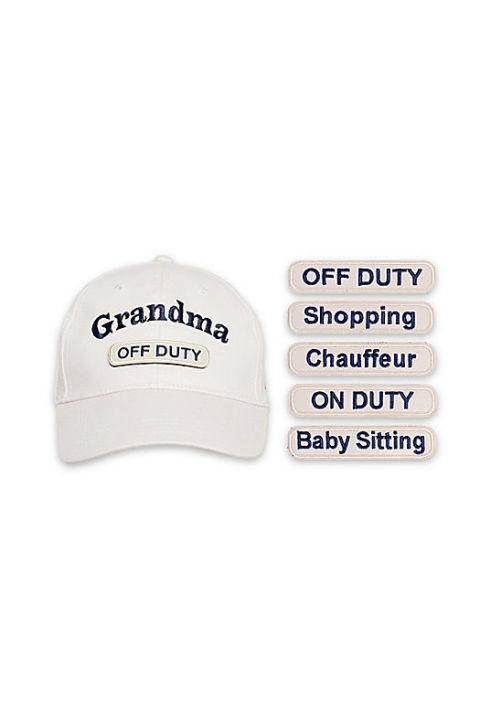 """<p>$25</p><p><a rel=""""nofollow"""" href=""""https://www.bedbathandbeyond.com/store/product/countdowncaps-trade-5-in-1-grandma-cap-with-interchangeable-patches/1060931993"""">BUY NOW</a></p><p>She wears many hats, and now she can show them all off with the five interchangeable badges of honor that come with this baseball cap.</p>"""
