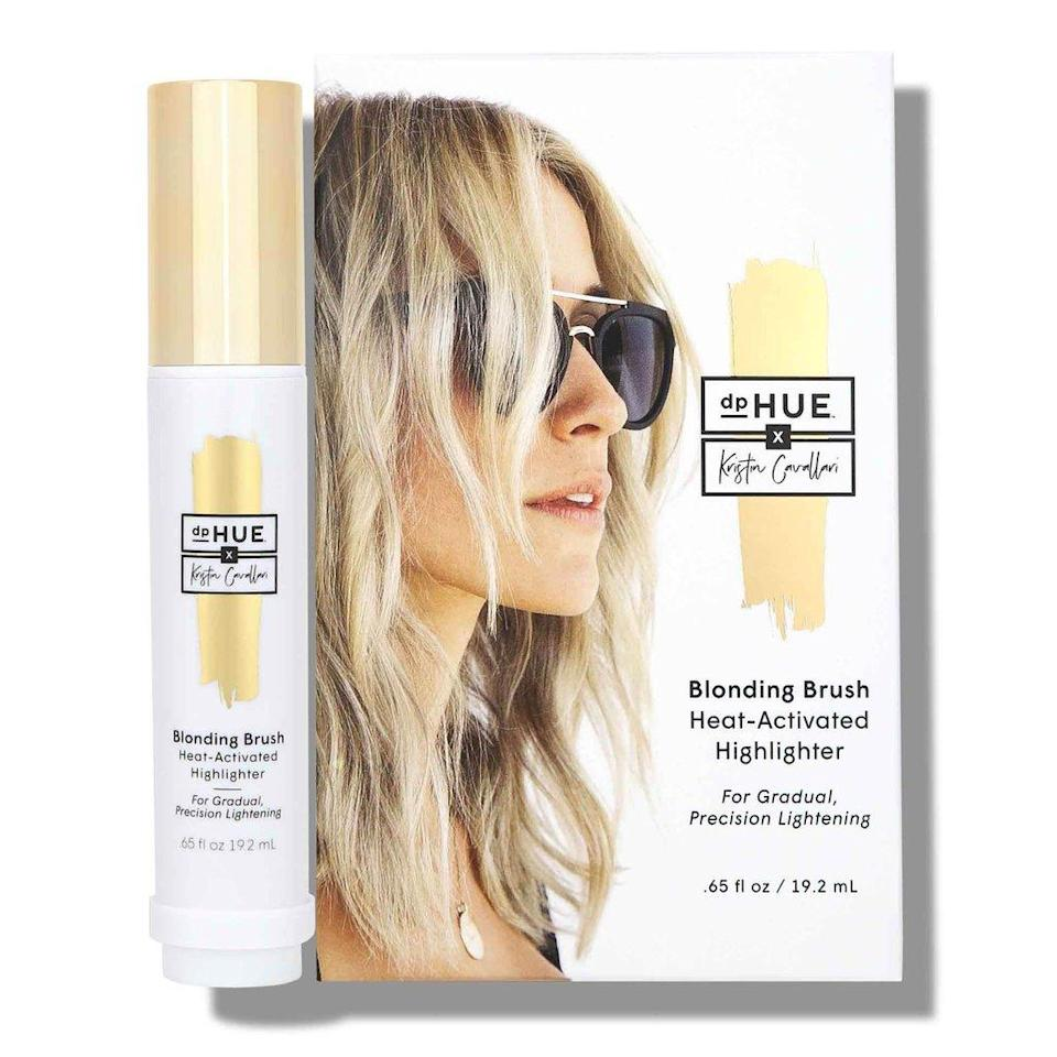 """<h3>dpHUE x Kristin Cavallari Blonding Brush</h3> <br>If you take hair inspiration from the <a href=""""https://www.refinery29.com/en-us/2019/06/235812/the-hills-cast-original-then-now-evolution-photos"""" rel=""""nofollow noopener"""" target=""""_blank"""" data-ylk=""""slk:OG Laguna Beach star"""" class=""""link rapid-noclick-resp"""">OG <em>Laguna Beach</em> star</a> and her very California beach-blonde highlights, you need this Blonding Brush created by Cavallari's friend and in-demand colorist, Justin Anderson. It's actually formulated with real lemon juice, activated by the sun or a blowdryer. Plus, because it's a brush, you can paint babylights on with precision, focused just around the frame of the face.<br><br><strong>dpHUE</strong> dpHUE x Kristin Cavallari Blonding Brush, $, available at <a href=""""https://go.skimresources.com/?id=30283X879131&url=https%3A%2F%2Fwww.ulta.com%2Fdphue-x-kristin-cavallari-blonding-brush%3FproductId%3Dpimprod2004626%26sku%3D2546938%26cmpid%3DPS_Non%21google%21Product_Listing_Ads%26cagpspn%3Dpla%26CATCI%3Dpla-294680686006%26CAAGID%3D18002902230%26CAWELAID%3D330000200001749223%26CATARGETID%3D330000200001332369%26cadevice%3Dc%26gclid%3DEAIaIQobChMIwvWxw-P64gIVV8DICh3sRQtWEAYYASABEgLkNvD_BwE"""" rel=""""nofollow noopener"""" target=""""_blank"""" data-ylk=""""slk:Ulta Beauty"""" class=""""link rapid-noclick-resp"""">Ulta Beauty</a><br>"""