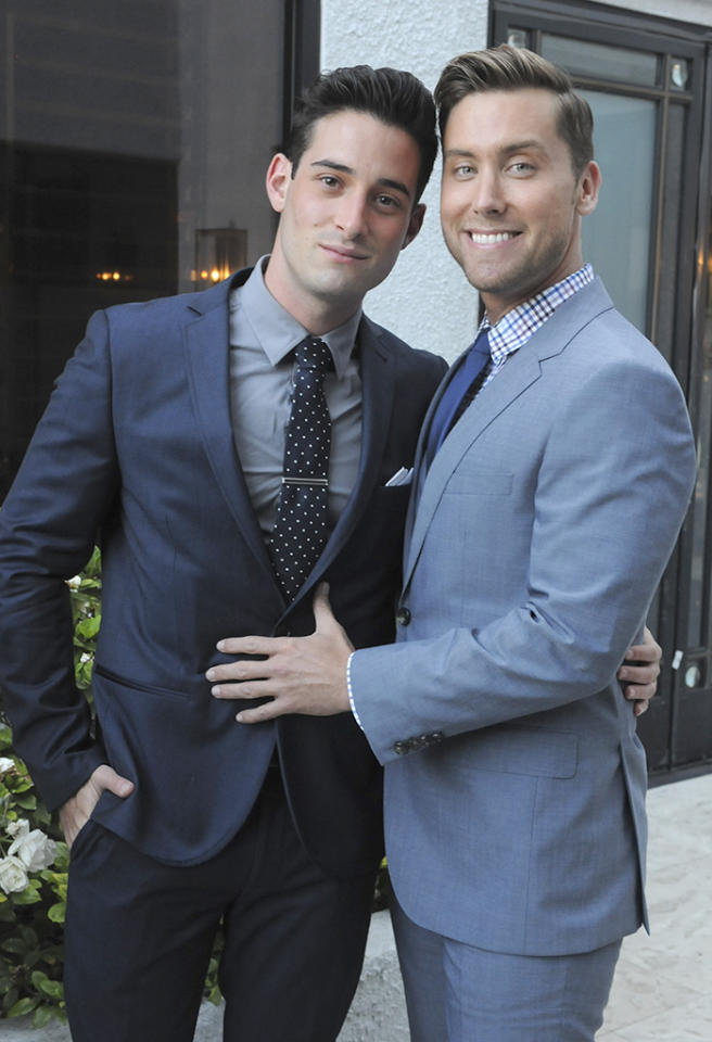 WEST HOLLYWOOD, CA - JUNE 13:  Michael Turchin and Lance Bass attend West Coast Liberty Awards Celebrating Lambda Legal's 40th Anniversary at The London Hotel on June 13, 2013 in West Hollywood, California.  (Photo by Vivien Killilea/WireImage)