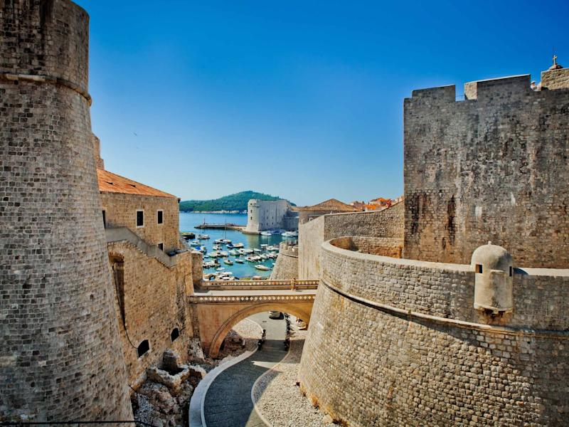 Croatia Dubrovnik Old City Walls