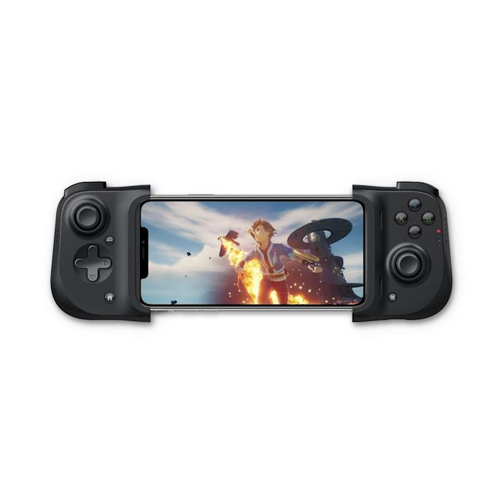 The Razer Kishi transforms your smartphone into a Nintendo Switch-like gadget. You can slide just about any model iPhone into the Kishi and game-on with its two clickable thumbsticks and pair of face buttons, along with other cool hands-on features.