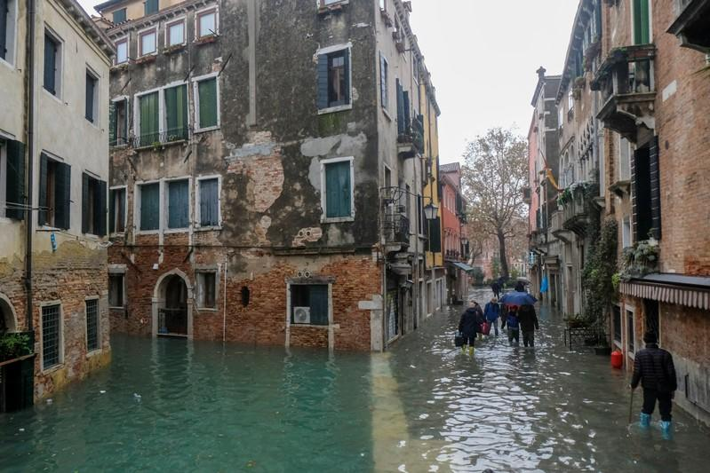 Climate change blamed as floods overwhelm Venice, swamping basilica and squares