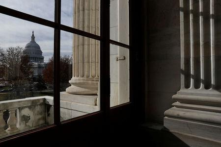 The Capitol Building is seen from Russell Senate Office Building in Washington, U.S., December 6, 2017. REUTERS/Aaron P. Bernstein