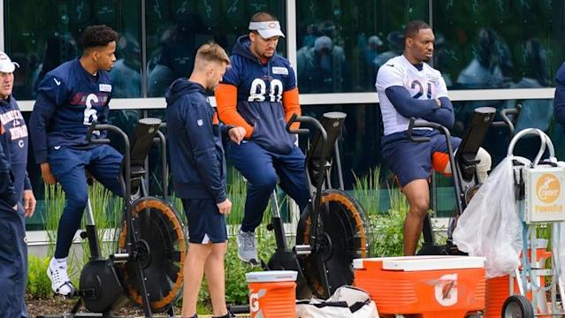 New Bears defensive coordinator Chuck Pagano won't have his new starting safety tandem in place to start training camp