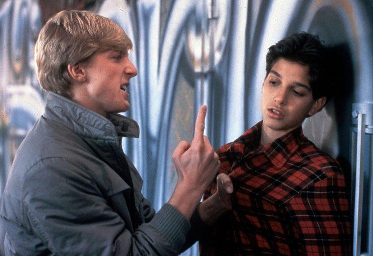 WILLIAM ZABKA, RALPH MACCHIO in The Karate Kid