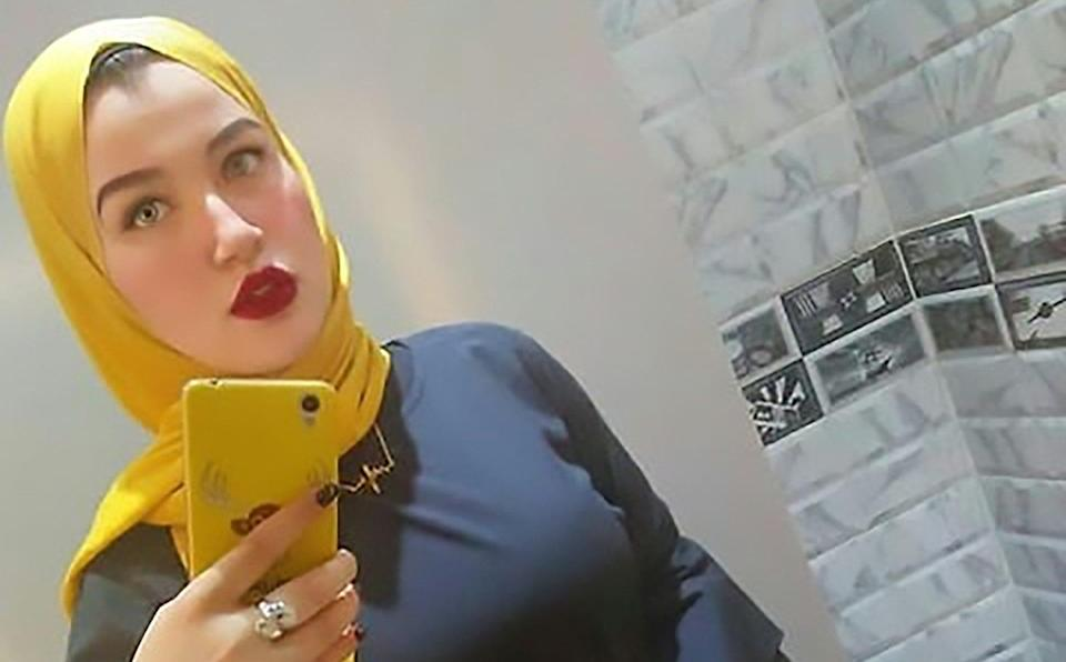 Ms Hossam, whose social media posts have been attacked for violating 'traditional values', begged for clemency on Monday