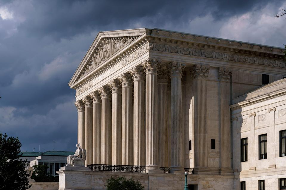 This June 8, 2021, file photo shows the Supreme Court building in Washington.