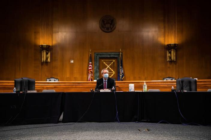 U.S. Senate Banking Committee confirmation hearing on Capitol Hill in Washington