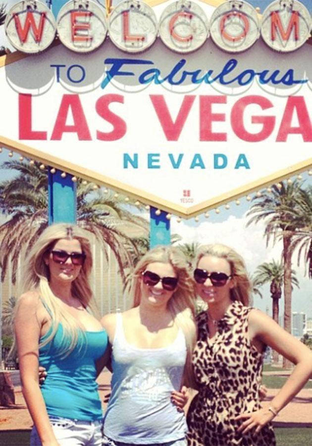 The reality star (left) travelled to Vegas as a 20-year-old. Photo: Instagram