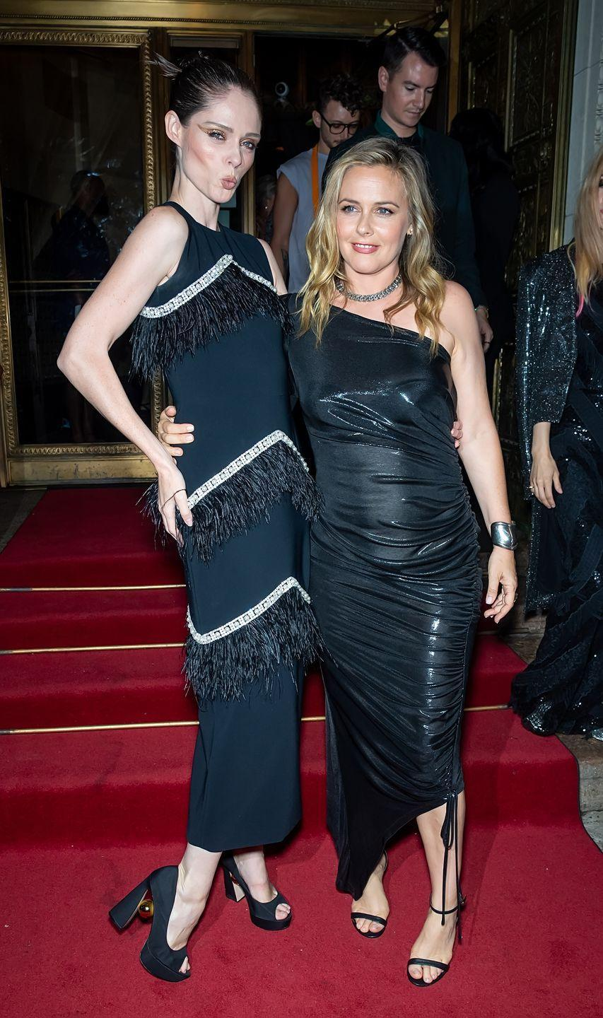 <p>Coco Rocha and Alicia Silverstone are seen leaving Christian Siriano's Spring 2022 show during New York Fashion Week.</p>