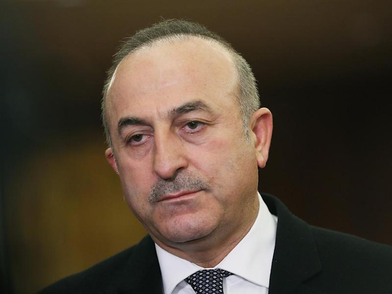 Turkey's foreign minister has been attempting to tour Europe to gather support for a constitutional referendum next month