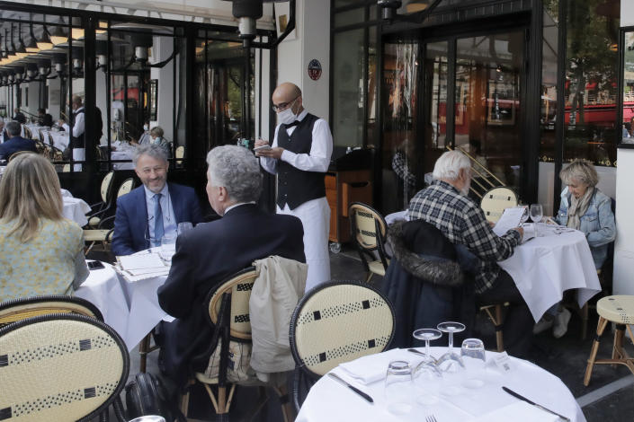 La Coupole restaurant in Paris on June 15th. (Christoph Aene / AP)