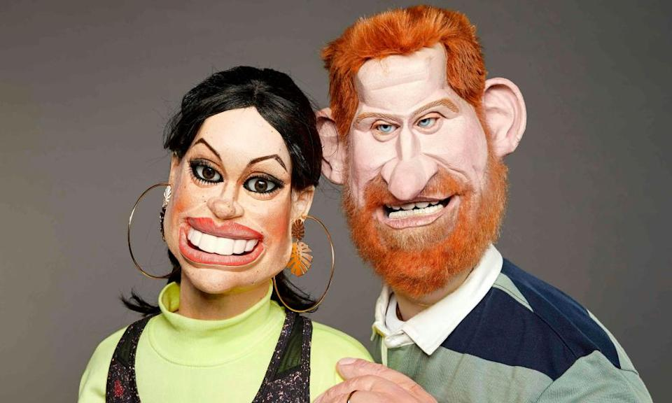 Puppets of Meghan, Duchess of Sussex and Prince Harry in Spitting Image.
