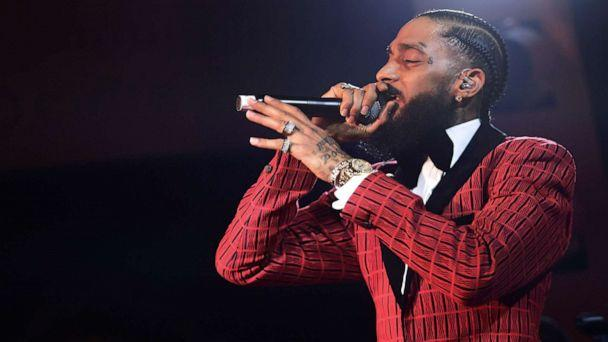 PHOTO: Rapper Nipsey Hussle performs at the NoMad Hotel, Feb. 7, 2019 in Los Angeles. Hussle was shot and killed outside his clothing store in South Los Angeles, March 31, 2019. (Matt Winkelmeyer/Getty Images, FILE)