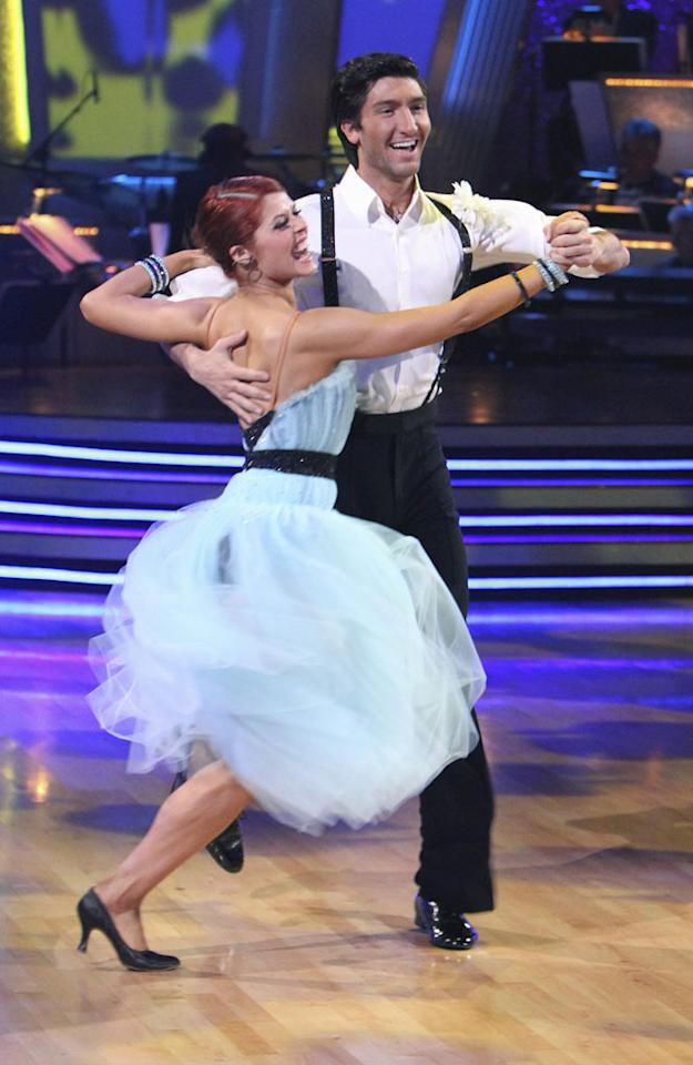 """Anna Trebunskaya and Evan Lysacek on the finale of """"Dancing with the Stars."""""""