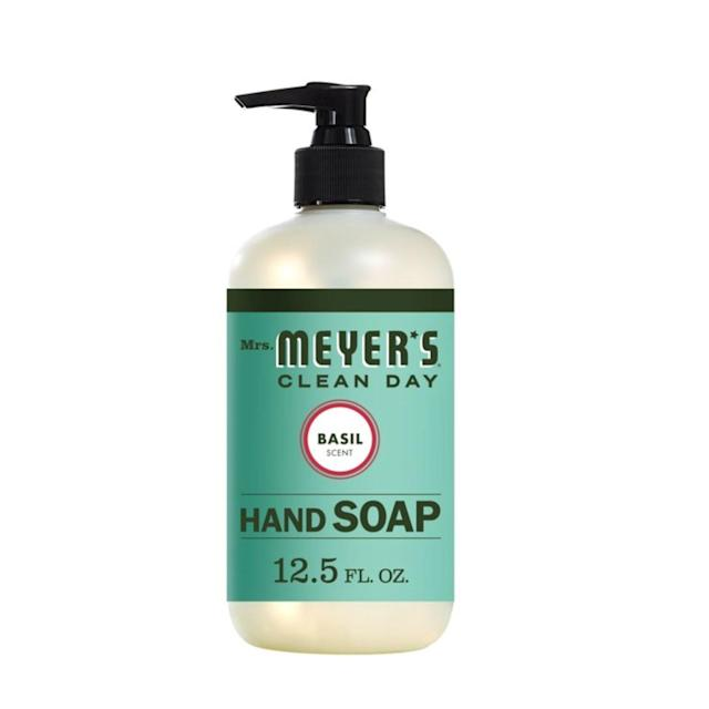 """<p>Of course, we adore the clean, crisp scent of Mrs. Meyer's Clean Day Liquid Hand Soap, but we're also big fans because it contains glycerin to hydrate, aloe vera leaf juice to soothe, and a blend of black pepper seed, olive fruit, and parsley oils to lock in moisture and condition the skin.</p> <p><strong>$11 for three</strong> (<a href=""""https://goto.walmart.com/c/1324868/565706/9383?subId1=allurebesthandsoaps&veh=aff&sourceid=imp_000011112222333344&u=https%3A%2F%2Fwww.walmart.com%2Fip%2FMrs-Meyer-s-Clean-Day-Liquid-Hand-Soap-Basil-Scent-12-5-Oz%2F14894101"""" rel=""""nofollow noopener"""" target=""""_blank"""" data-ylk=""""slk:Shop Now"""" class=""""link rapid-noclick-resp"""">Shop Now</a>)</p>"""