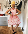 """<p>To recreate this clever costume at home, cut a dress shape from posterboard, then use markers, crayons, or colored pencils to fill in the details. For ease, use a wig rather than fashion your own headpiece. </p><p><a class=""""link rapid-noclick-resp"""" href=""""https://www.instagram.com/p/B4JOT6wFf7J/"""" rel=""""nofollow noopener"""" target=""""_blank"""" data-ylk=""""slk:SEE MORE"""">SEE MORE</a></p><p><a class=""""link rapid-noclick-resp"""" href=""""https://www.amazon.com/Aimole-Women-Blonde-Synthetic-Resistant/dp/B07KK2GNSD/?tag=syn-yahoo-20&ascsubtag=%5Bartid%7C10072.g.33547559%5Bsrc%7Cyahoo-us"""" rel=""""nofollow noopener"""" target=""""_blank"""" data-ylk=""""slk:SHOP WIG"""">SHOP WIG</a></p>"""