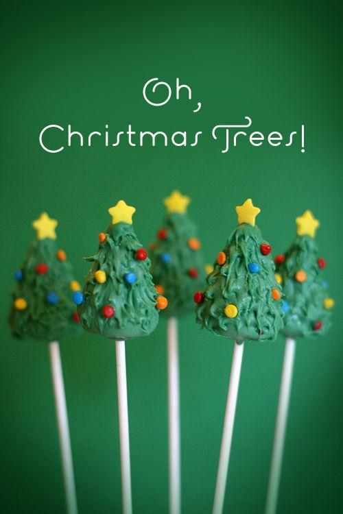 """<p>Make these trees like a normal cake pop, except form it into a cone instead of a ball. Then decorate however you'd like with colorful candies!</p><p><strong>Get the recipe at <a href=""""https://www.bakerella.com/its-beginning-to-look-a-lot-like-christmas/"""" rel=""""nofollow noopener"""" target=""""_blank"""" data-ylk=""""slk:Bakerella"""" class=""""link rapid-noclick-resp"""">Bakerella</a>.</strong></p><p><strong><a class=""""link rapid-noclick-resp"""" href=""""https://www.amazon.com/Lollipop-sticks-100-count-inch/dp/B000W5CGR8?tag=syn-yahoo-20&ascsubtag=%5Bartid%7C10050.g.22841709%5Bsrc%7Cyahoo-us"""" rel=""""nofollow noopener"""" target=""""_blank"""" data-ylk=""""slk:SHOP LOLLIPOP STICKS"""">SHOP LOLLIPOP STICKS</a></strong></p>"""