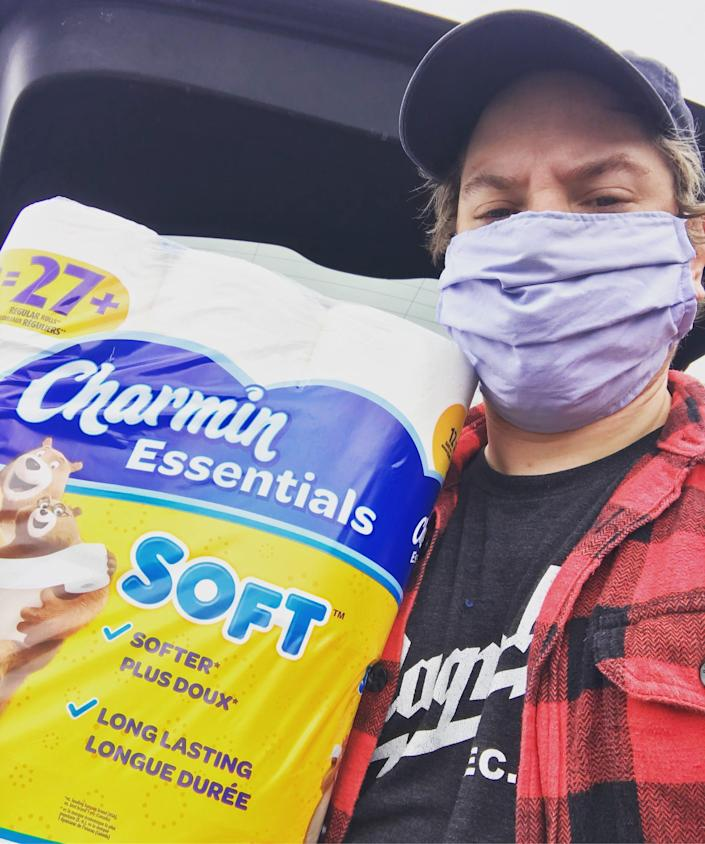 Scott Huffard, a 34-year-old history professor living in Beech Mountain, North Carolina, scored a 12-pack of toilet paper at the grocery store so he traded six of the rolls for dishwasher soap.