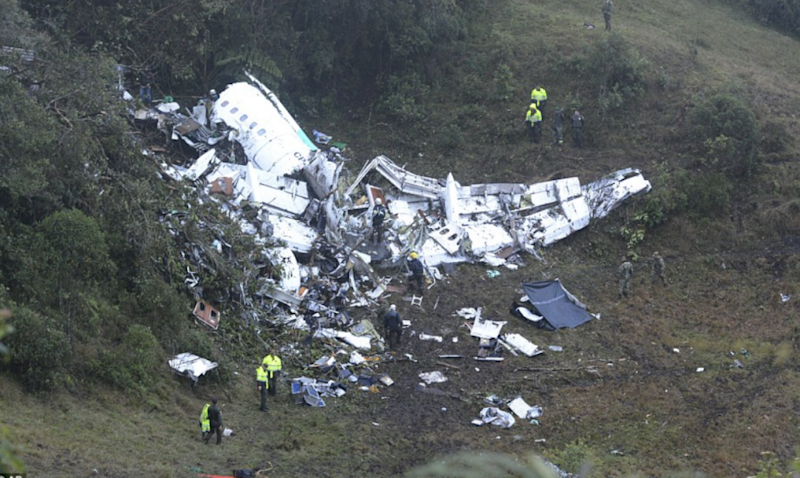 Brazil declared three days of mourning after the crash. Photo: AP