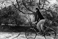 <p>Jackie on a bike ride in New York's Central Park. </p>