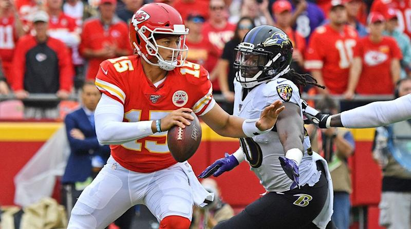Patrick Mahomes and the Chiefs' Offense Left the Ravens Flustered