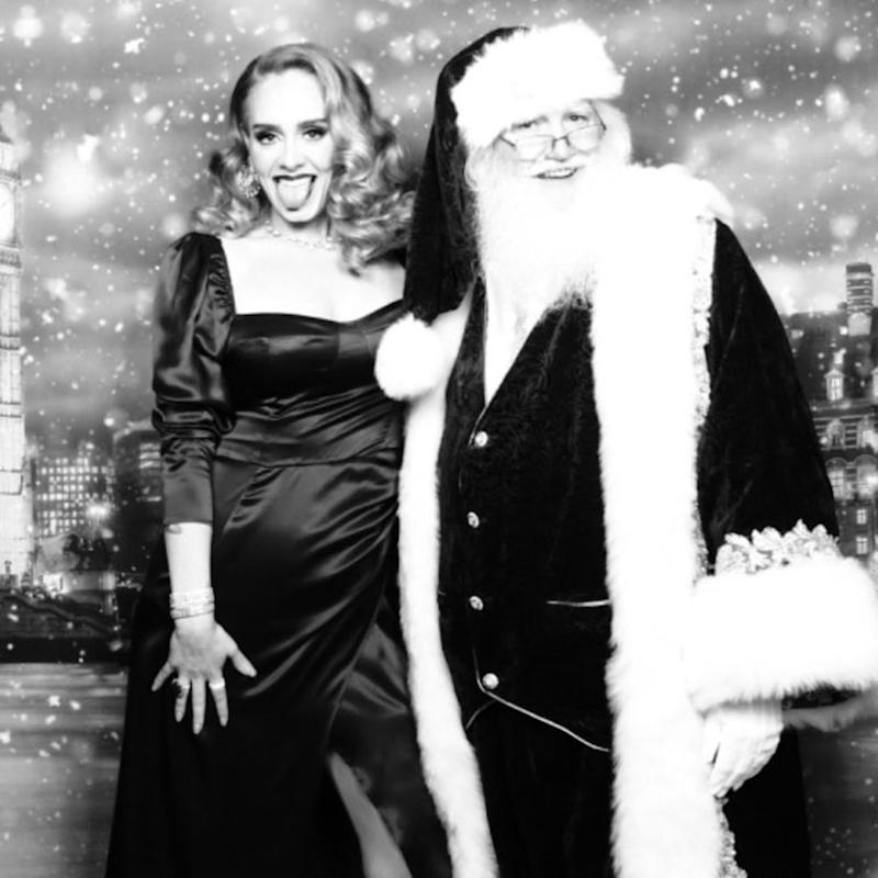 Adele's insane body transformation shown in Christmas photos with Santa