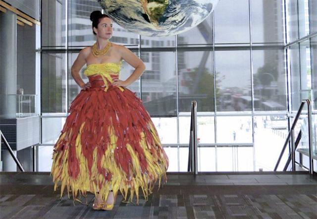 Corn Husk Evening Wear!