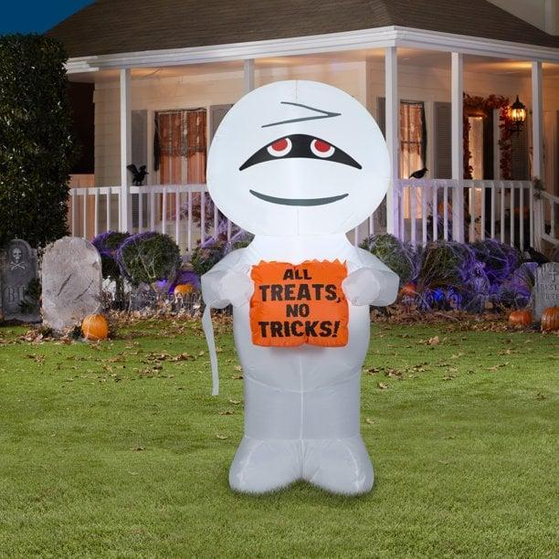 <p>The four-foot <span>Airblown Inflatables Mummy All Treats No Tricks</span> ($15) is such an adorable find. Trick-or-treaters will feel welcomed and might even pose for a few pictures!</p>