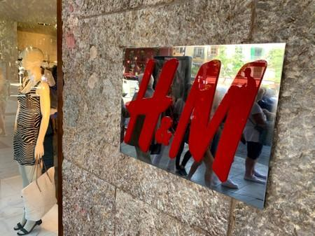 FILE PHOTO: An H&M sign is seen at the entrance to an H&M store in Palma on the island of Mallorca