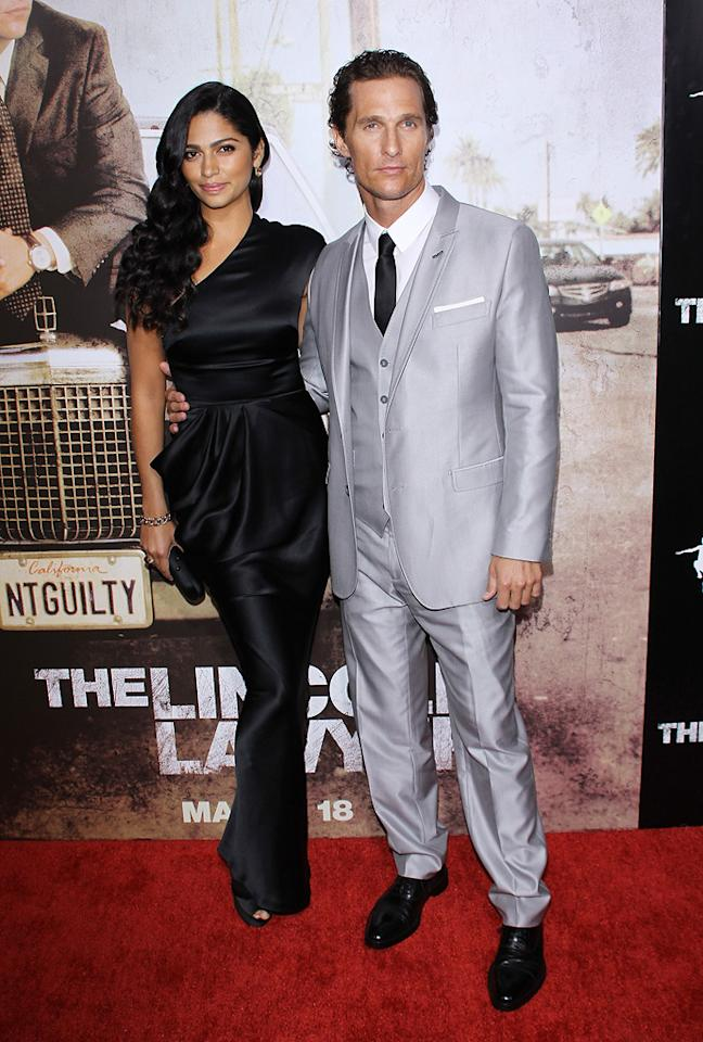 """Camilla Alves and <a href=""""http://movies.yahoo.com/movie/contributor/1800018907"""">Matthew McConaughey</a> at the Los Angeles premiere of <a href=""""http://movies.yahoo.com/movie/1810088161/info"""">The Lincoln Lawyer</a> on March 10, 2011."""