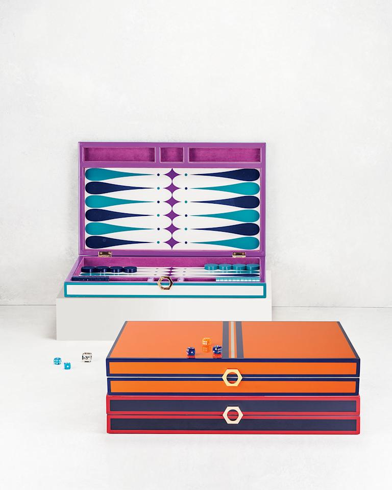 """<p><strong>Jonathan Adler</strong></p><p>neimanmarcus.com</p><p><strong>$98.00</strong></p><p><a href=""""https://go.redirectingat.com?id=74968X1596630&url=https%3A%2F%2Fwww.neimanmarcus.com%2Fp%2Fprod175860111&sref=http%3A%2F%2Fwww.cosmopolitan.com%2Flifestyle%2Fg29089181%2Fbest-two-person-board-games%2F"""" target=""""_blank"""">Shop Now</a></p><p>Part stunning home decor, part functional game, this gorg lacquer backgammon set from Jonathan Adler is sure to impress even the most discerning of game night attendees. Get some lessons from Grams and you'll be running the board in no time.</p>"""