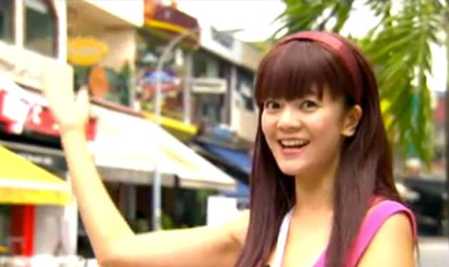 The Noose has propelled local star Michelle Chong (above) to fame. She is seen playing one of her alter egos, Barbarella, a sarong party girl. (Youtube screengrab)