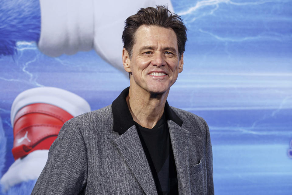 Photo by: KGC-324-RC/STAR MAX/IPx 2020 1/28/20 Jim Carrey at the premiere of 'Sonic the Hedgehog' in Berlin, Germany.