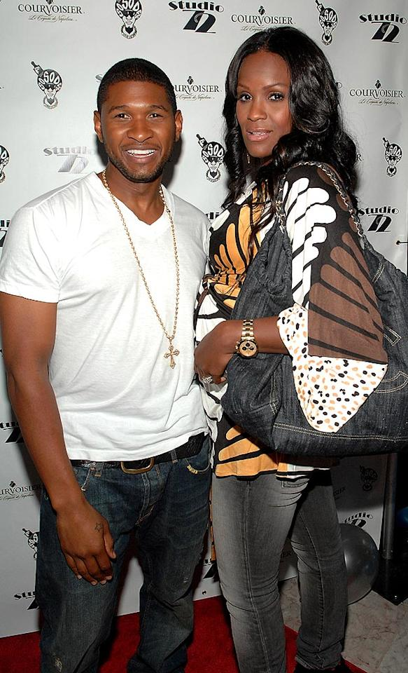 """Usher and Tameka Foster's marriage was short-lived. They wed in August 2007, separated in July 2008, and their divorce was finalized in November 2009! The couple have two sons, Usher V, 2, and Naviyd, 1. Rick Diamond/<a href=""""http://www.wireimage.com"""" target=""""new"""">WireImage.com</a> - August 29, 2009"""