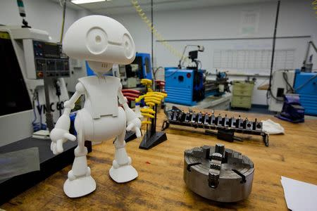 Intel publicity photo shows Intel's 3-D printed Jimmy the Robot